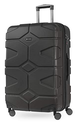 HAUPTSTADTKOFFER - X-Kölln - Valigia da viaggio espandibile rigida e legera, grande 76 cm, Trolley ABS, TSA, 107-120 litri, Grafite