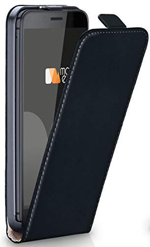 moex HTC 10 Evo   Hülle Schwarz 360° Klapp-Hülle Etui Thin Handytasche Dünn Handyhülle für HTC One 10 Evo Case Flip Cover Schutzhülle Kunst-Leder Tasche