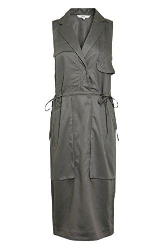 next Robe militaire en tencel Petite Femme Gris