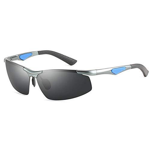 Mode Herren-Blackout-Sonnenbrille Ohne Grenzen Ultraleichte, Bequeme Outdoor-Sportarten Fahren Reiten Sonnenbrille Strand Meer UV400-Schutz (Farbe : Gray)
