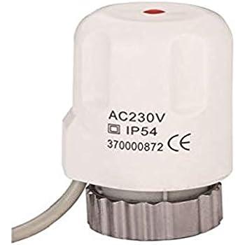 actuator for underfloor heating 230 v incl  adapter va10, fits on  beulco/cronatherm / kamo/purmo / watts/rehau an others