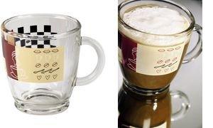 xavax Tasse à café, en verre, 0,38 l, avec un décor élégant