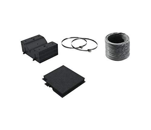 Bosch dwz0dx0u0Cooker Hood Recycling Kit Zubehör für Dunstabzugshaube Zubehör–Kamin Zubehör (Cooker Hood Recycling Kit, Schwarz, 15cm, Bosch)