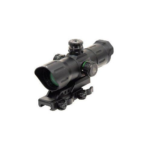 UTG Taktisches Leuchtpunktvisier 6 Zoll ITA CQB T-dot Sight mit Offset QD Montage, Rot/Grün, SCP-TDTDQ