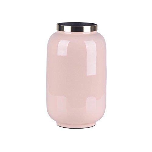 Gift Company - Saigon - Vase mit Metallring - Blush/Gold - Größe S - 14x20x14cm (Blush Vase)