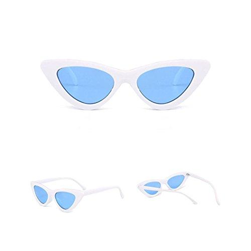 URSING Damen Mode Katzenaugen Sonnenbrille Integriertes UV Cat Eye Sunglasses Damenbrillen Herrenbrillen Frauen Retro Vintage Brille Nachtsichtbrille Eyewear Travel Sonnenbrillen (I)