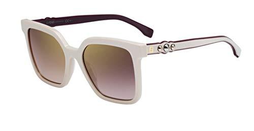Fendi Damen FF 0269/S JL SZJ 54 Sonnenbrille, Weiß (Ivory/Bw Black Brown),