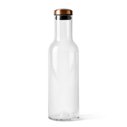 Menu 4680239 New Norm Wasserkaraffe mit Kupferdeckel, Glas, 1 L, 29 x 8 x 29 cm