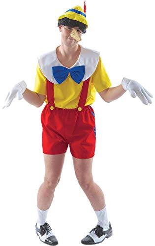 Erwachsene Pinocchio Kostüm Marionette Buch Woche Outfit Verkleidung Extra Large