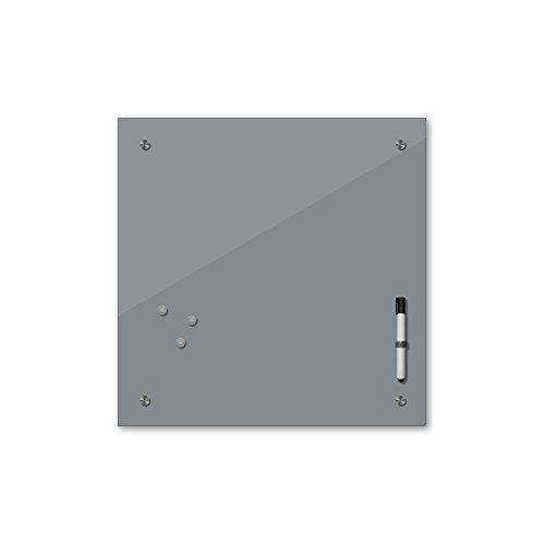 Bilderdepot24 Memoboard 40 x 40 cm, 24 Farben - grau - Glas - Glasboard - Glastafel - Magnetwand - Pinnwand - Mehrzwecktafel Farbton - Grundfarbe - einfarbige Schreibtafel