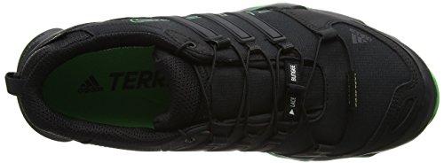 adidas Terrex Swift R GTX, Scarpe da Arrampicata Basse Uomo Nero (Core Black/core Black/energy Green)