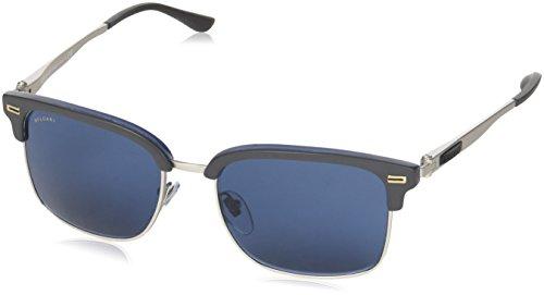 Bulgari Herren 0BV7026 535780 54 Sonnenbrille, Blau (Sand Grey On Blue Horn/Mt Sil/Bluette),