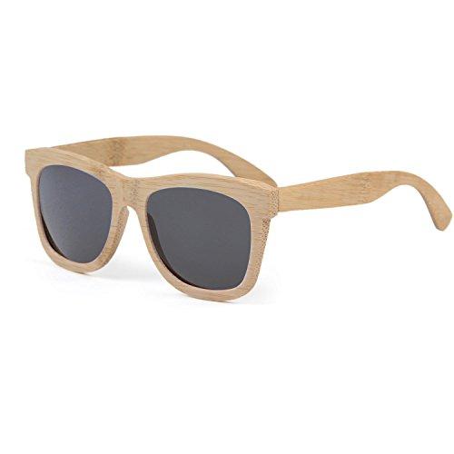 LUI SUI Gafas de sol polarizadas de bambú natural. Hechas a mano