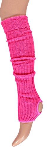 krautwear® Damen Mädchen Ballettstulpen mit Fersenloch Beinwärmer Ballett Stulpen Legwarmer Armstulpen ca. 55 cm 80er Jahre ...