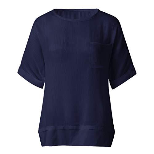 CAOQAO Damen Rundhals-Pullover Mit Rundhalsausschnitt Und Lockerem Saum Sowie Hemd