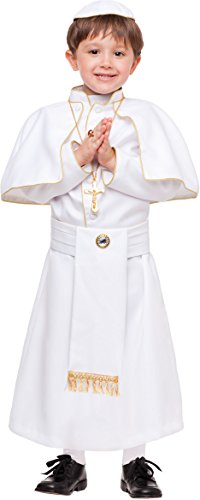 KOSTÜM FASCHING KARNEVAL PAPST für KARNAVALKOSTÜME fancy dress halloween cosplay veneziano party 53909 Size (Kostüme Veneziano)