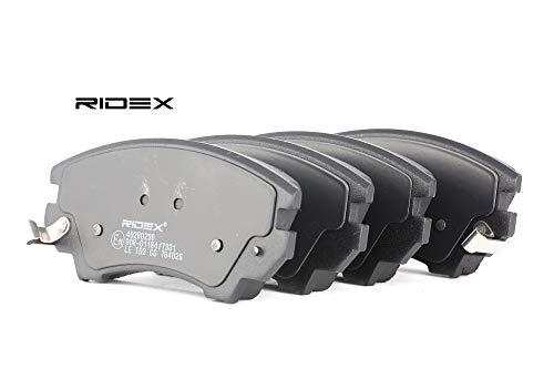 Ridex 402B0296 - Kit pastiglie freno a disco