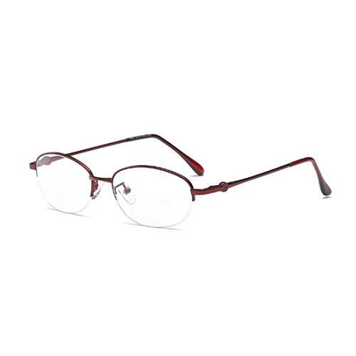 Aiweijia Reading Brillen Metalllinse Doppellicht Lesen Weit und nah Brillen Abstand Dual Use
