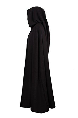 Mittelalterlicher Fleece Umhang – wärmend – schwarz L130 - 2