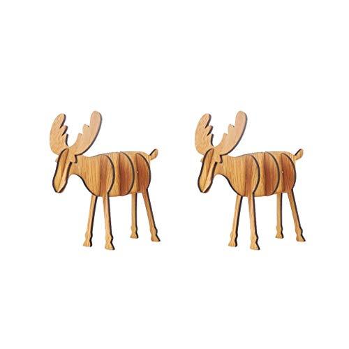 Vijtian - mini alce in legno fai da te per decorare la tua casa con estetica e bellezza, b
