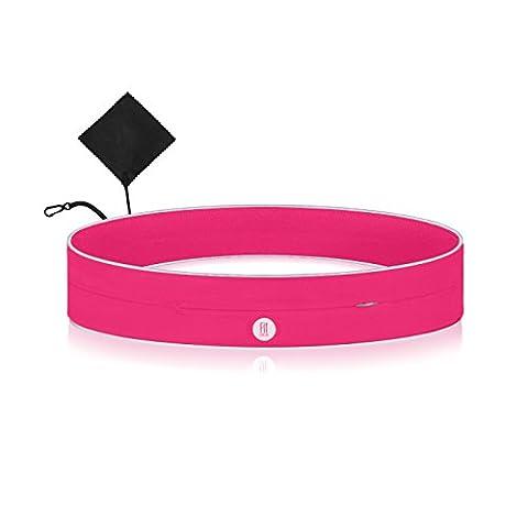 Laufgürtel mit Reißverschlusstasche für Handy Geld Schlüssel Smartphone -reflektierend- Jogging