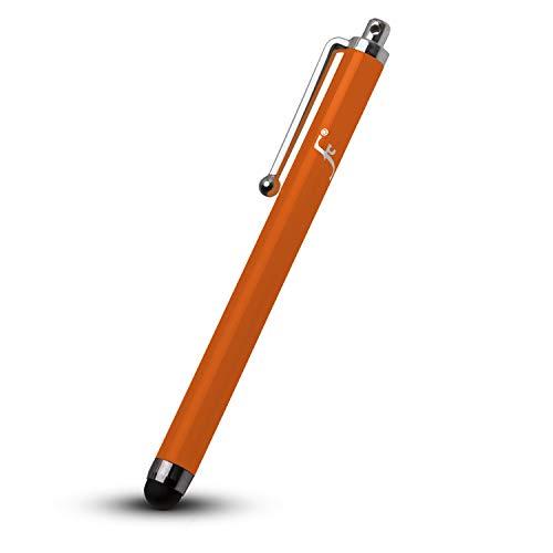Forefront Cases Kindle Paperwhite 2018 Universal Eingabestift Stylus | Gummi Gespitztes Metallischer iOS Stift | Kratz- & Fettpräventionskit | Styli - Orange