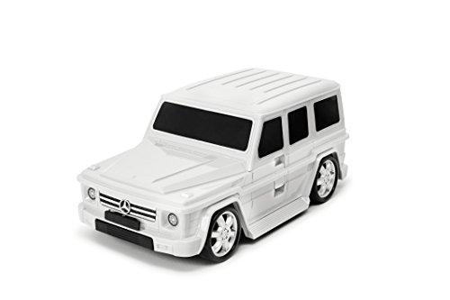 Packenger Kinderkoffer - Mercedes G-Klasse - Original Mercedes Benz Lizenzprodukt, Grau, Auto, Bordcase, Koffer mit Teleskopstange und Ziehgurt