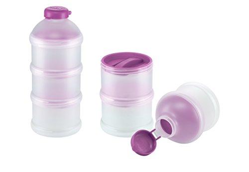 NUK 10256328 Milchpulver-Portionierer, 3 Stück, BPA-frei, violett
