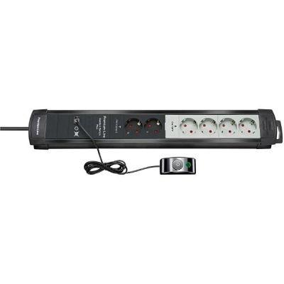 Preisvergleich Produktbild Brennenstuhl Steckdosenleiste Premium-Line Comfort Switch Plus 2x permanent 4x schaltbar schwarz / l.grau