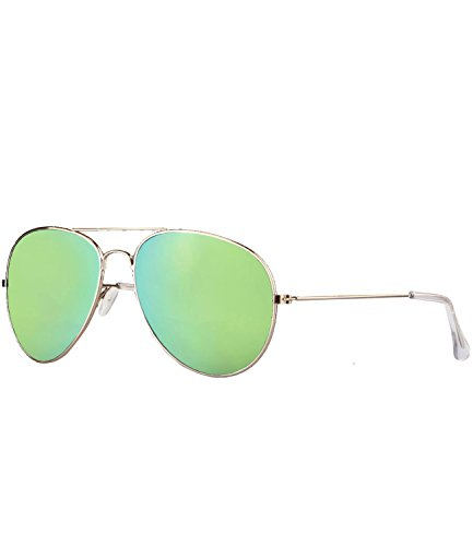 caripe Aviator 70er Sonnenbrille Pilotenbrille Fliegerbrille Damen Herren verspiegelt + getönt...