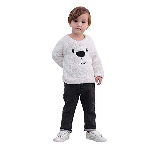 Yanhoo Kinderkleidung, Kindermode Baby Jungen Winter Teddy-Fleece Pullover Langarmshirt Pulli Oberteile