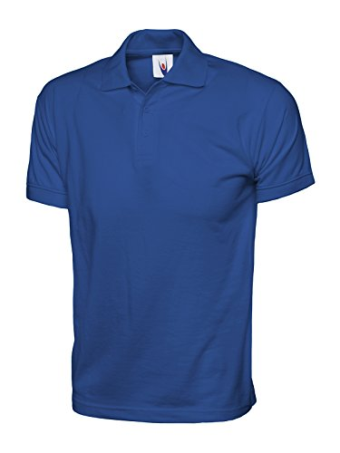 Uneek Mens Short Sleeve Polo Shirt Royal