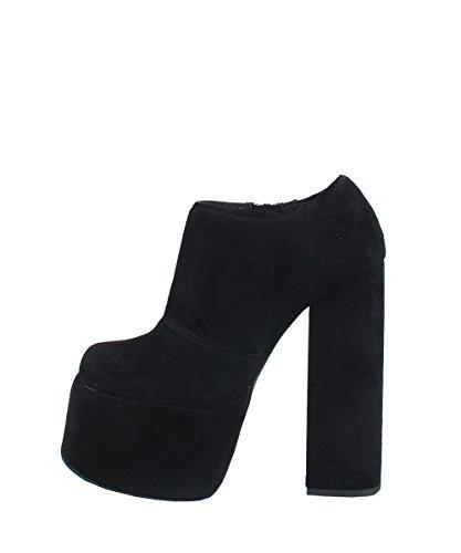 Jeffrey Campbell druella Sandals Suede Black–Sandales Noirs cuir daim Noir
