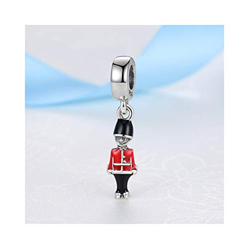 Schmuck Geschenk, Perle Charme Original 100% 925 Sterling Silver Bead Charm Fit Bracelets Love Travel Palm Tree Eiffel Tower Charms Women DIY Jewelry Toy Soldier