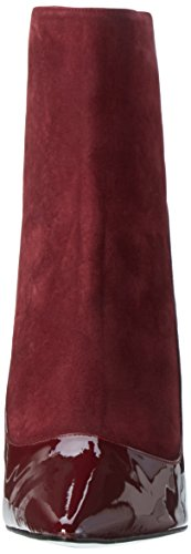 Buffalo 12206-314 Suede Patent, Bottines à doublure froide femme Rouge - Rot (Rioja 01)