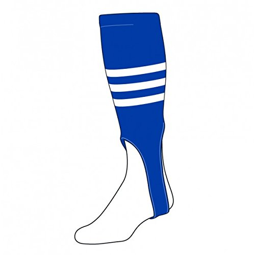Baseball/Softball mehrfarbig Muster 17,8cm Steigbügel Socken (4Mustern/13mehrfarbig), Herren, Royal/Weiß