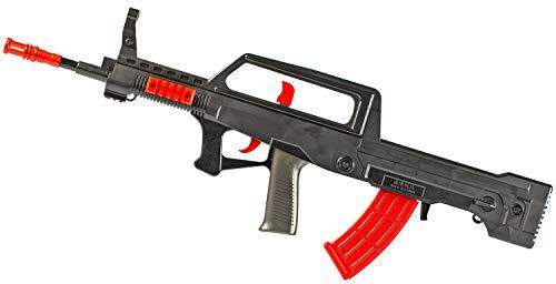 NICK and BEN Pfeil-Gewehr Soft-Dart Shooter XXL 70 cm inkl. 3 Schaum-Pfeilen aus Moosgummi und Patronen-Munition