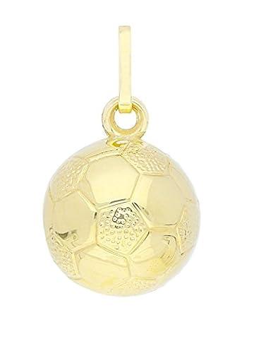 MyGold Fußball-Anhänger (ohne Kette) Gelbgold 333 Gold (8 Karat) Ø 10 mm Goldkette Herrenschmuck Fussball Halskette Munich A-03019-G303