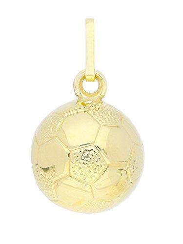 MyGold Fußball Anhänger (Ohne Kette) Gelbgold 585 Gold (14 Karat) Glanz Ø 10mm Herrenschmuck Fussball Kettenanhänger Goldanhänger Geschenk Für Männer Weihnachtsgeschenk Munich A-03019-G403-10mm