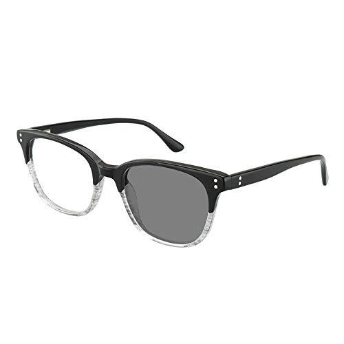 Übergang Photochrome Bifokale Retro Optische Lesebrille Reader Hyperopia UV400 Sonnenbrille