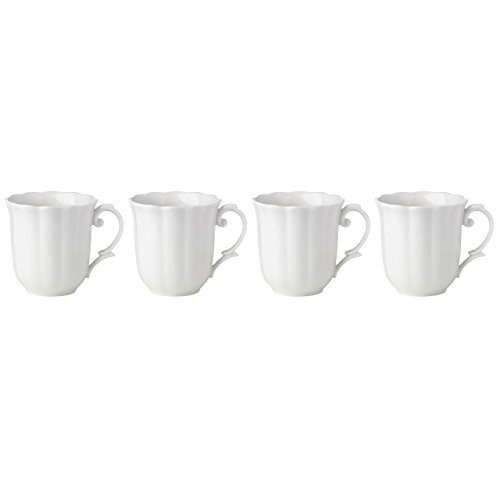 Lenox Butterfly Meadow Solid White Mugs (Set of 4) Butterfly Meadow China