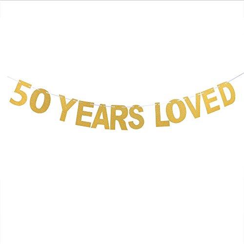 50Jahre Love Banner Happy 50th Birthday Party aufgehängt Wimpelkette 50. Hochzeit, Ruhestandsfeier, Party Dekorationen Supplies (50th Birthday-dekorationen Happy)