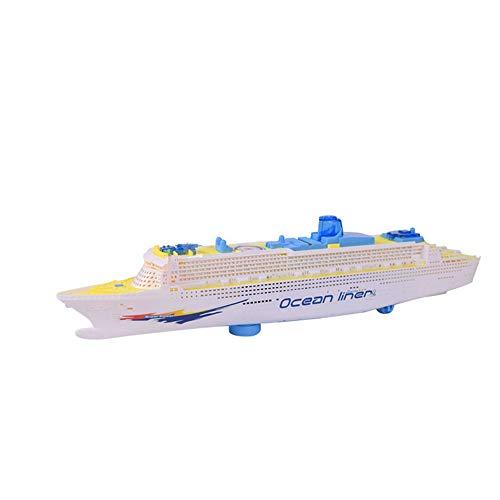(TianranRT Kinder Bunt Ozean Linienschiff Kreuzfahrt Schiff Boot Elektrisch Blinken LED Licht Klang Spielzeug)