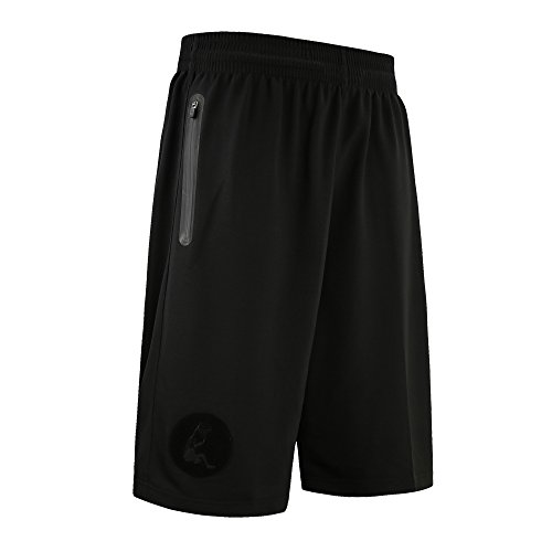 Mens Basketball Shorts, AresKo Plus Size Basketball Sports Shorts with Zipper Pocket Super Breathable