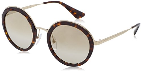 Prada Damen 0PR50TS 2AU6O0 54 Sonnenbrille, Braun (Tortoise/Light Brown Gold),