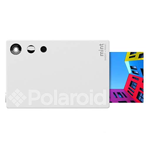 Polaroid Mint Fotocamera digitale Instant Print (Bianco), stampa su carta fotografica Zink 2x3 adesiva