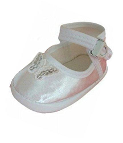 Seruna Festliche-r Baby-Schuh TP24 Gr. 16 Tauf-Schuhe rosa für Babies und kleine Mädchen zu Hochzeit-en (Gefallen Zu Stiefel)