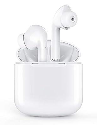 XXXAUDIO Wireless Headphones, Bluetooth 5.0 Headphones Sports In-Ear True Wireless Earbuds Stereo Hi-Fi Sound Mini Headset With Mic IPX5 Waterproof Auto Pairing 30H Battery Portable Charging Case