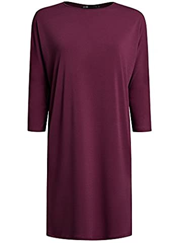 oodji Collection Femme Robe Ample avec Manche