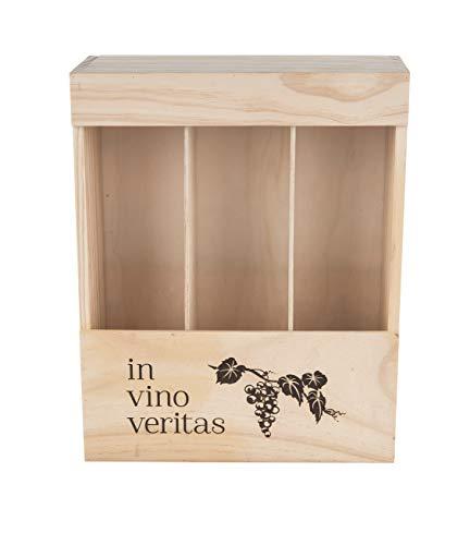 MYBOXES Weinbox Vino Veritas für 3 Flaschen